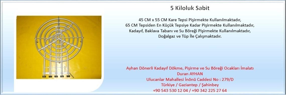 5 Kiloluk Sabit